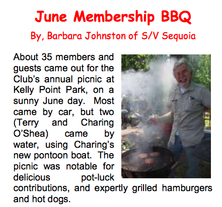 BBQ Sauvie Island Yacht Club