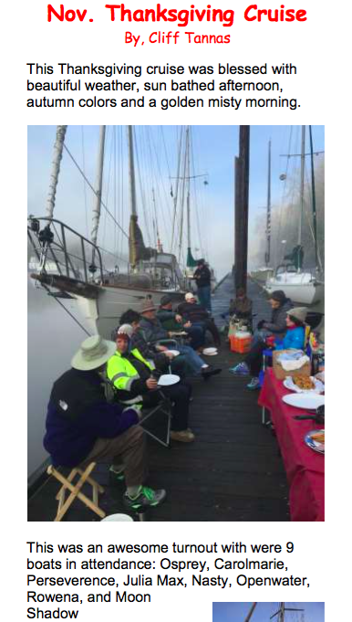 November Thanksgiving Cruise - sauvie island yacht club